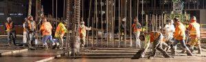 JHan Construction Team Pouring Concrete
